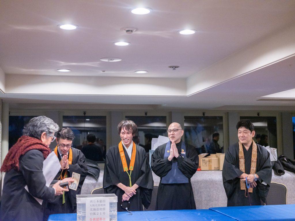豊中市仏教青年会の災害募金活動